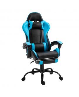 Fotoliu birou/gaming cu suport pentru picioare